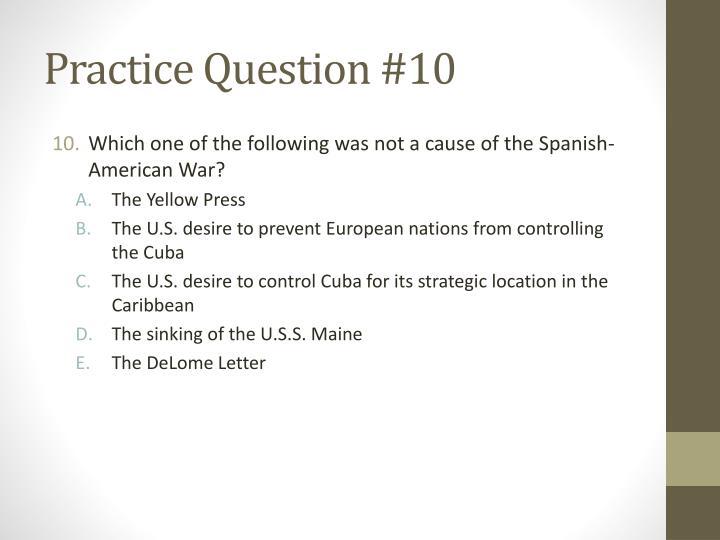 Practice Question #10