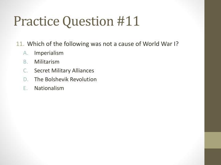 Practice Question #11