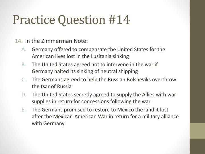 Practice Question #14