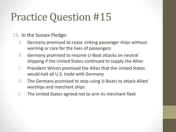 Practice Question #15