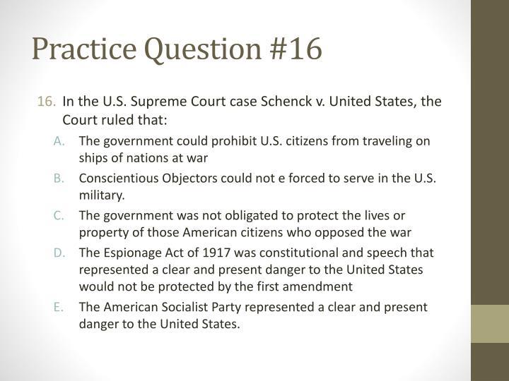 Practice Question #16