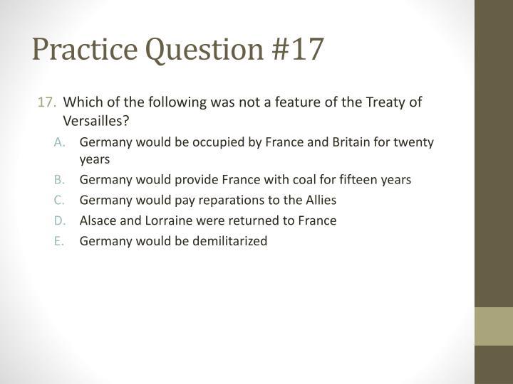 Practice Question #17