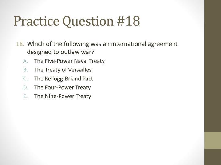 Practice Question #18