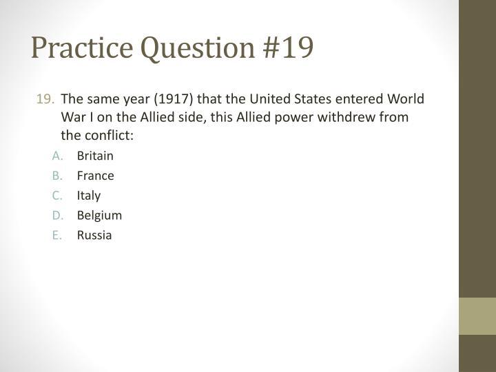 Practice Question #19