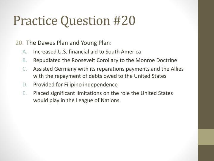Practice Question #20