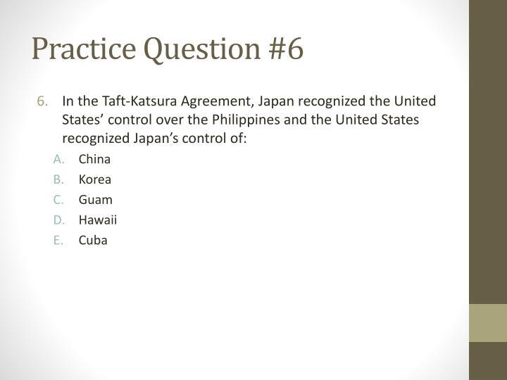 Practice Question #6
