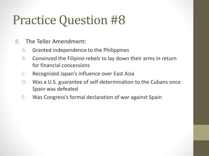 Practice Question #8