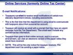 online services formerly online tax center2