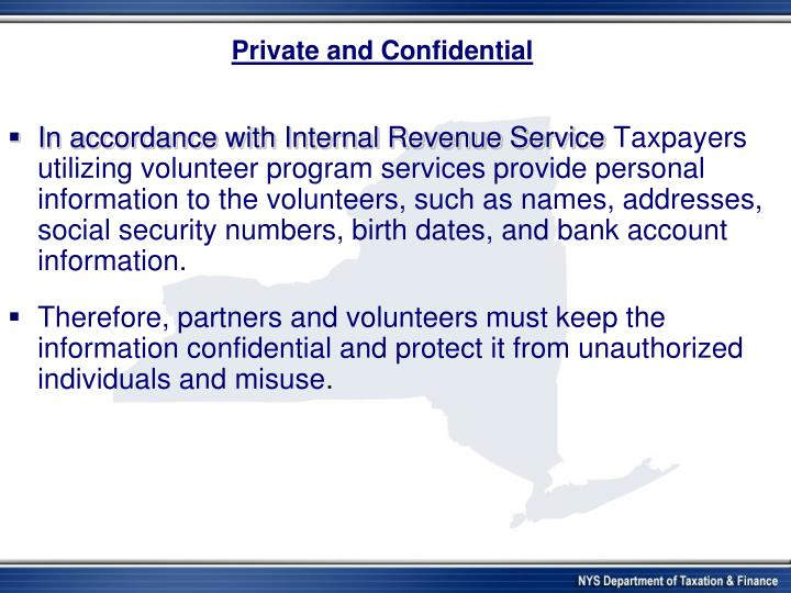 Private and confidential