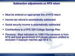 subtraction adjustments on nys return