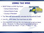 using tax wise
