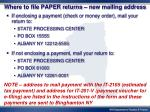 where to file paper returns new mailing address