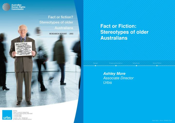 Fact or fiction stereotypes of older australians