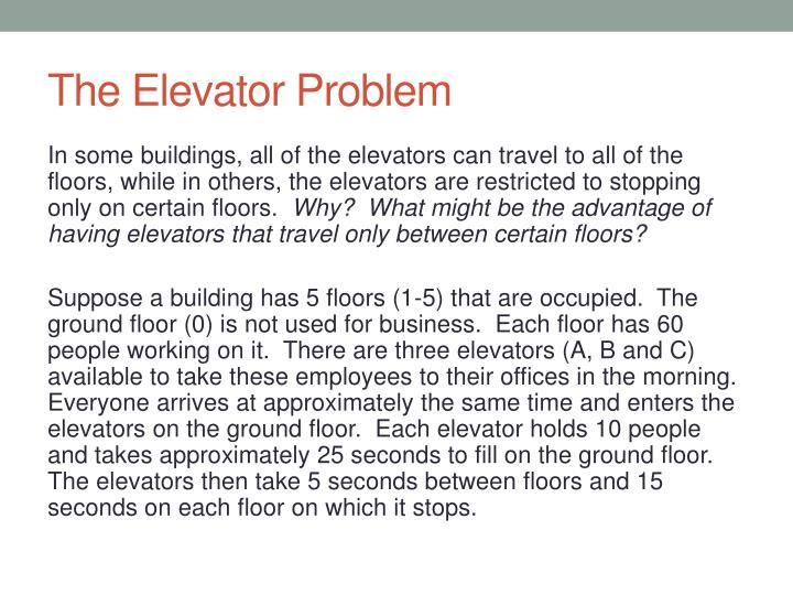 The Elevator Problem