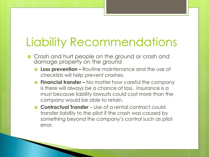 Liability Recommendations