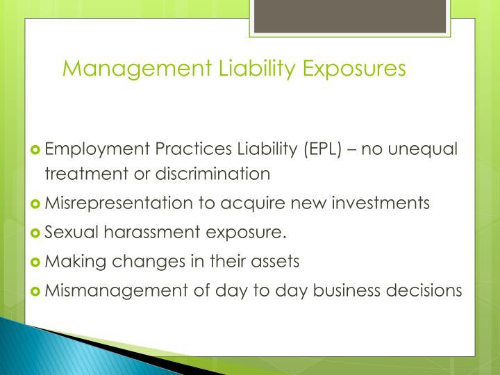Management Liability Exposures