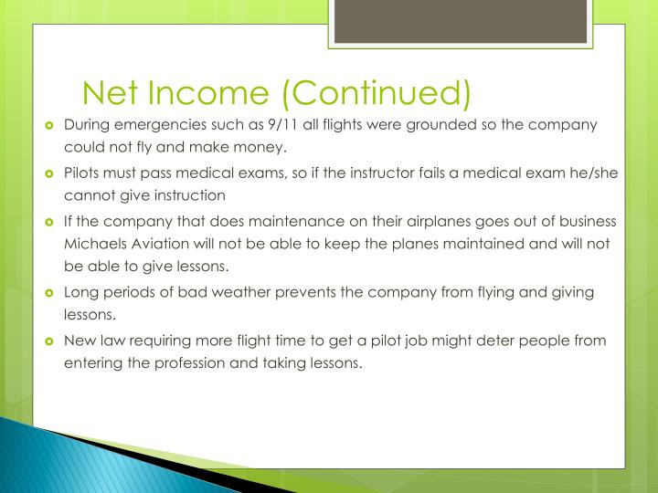 Net Income (Continued)
