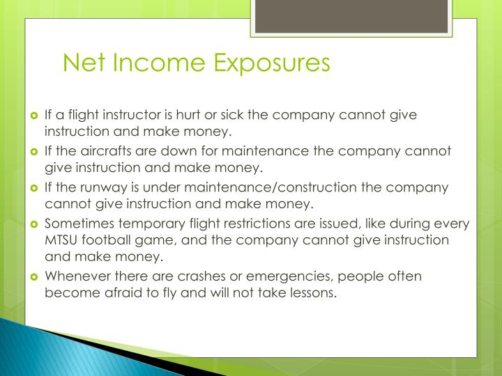 Net Income Exposures