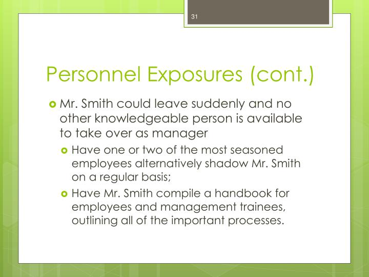 Personnel Exposures (cont.)
