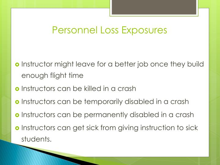 Personnel Loss Exposures