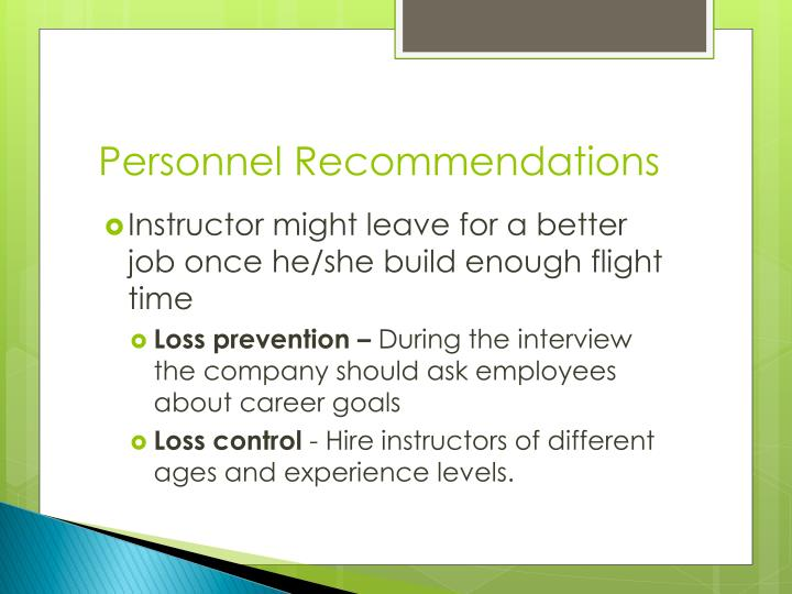 Personnel Recommendations