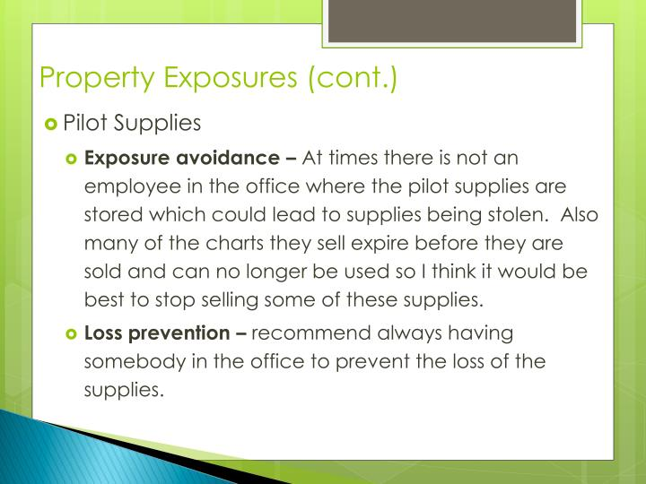 Property Exposures (cont.)