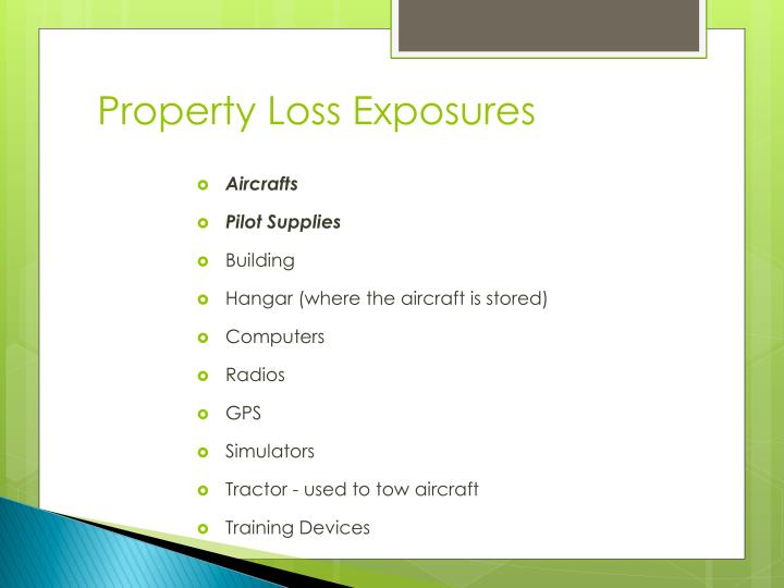 Property Loss Exposures