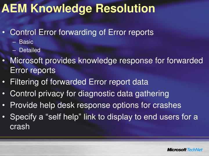 AEM Knowledge Resolution