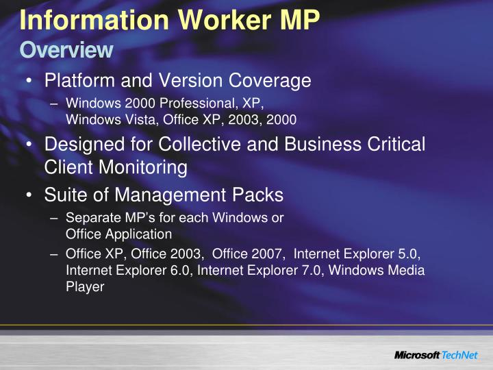 Information Worker MP