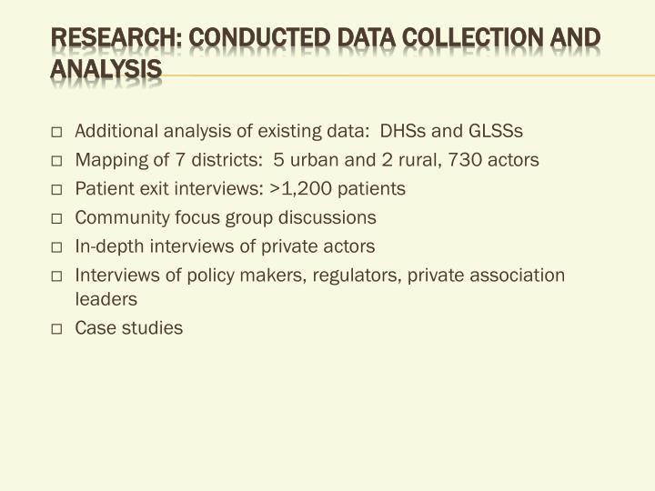 Research: Conducted data collection and analysis