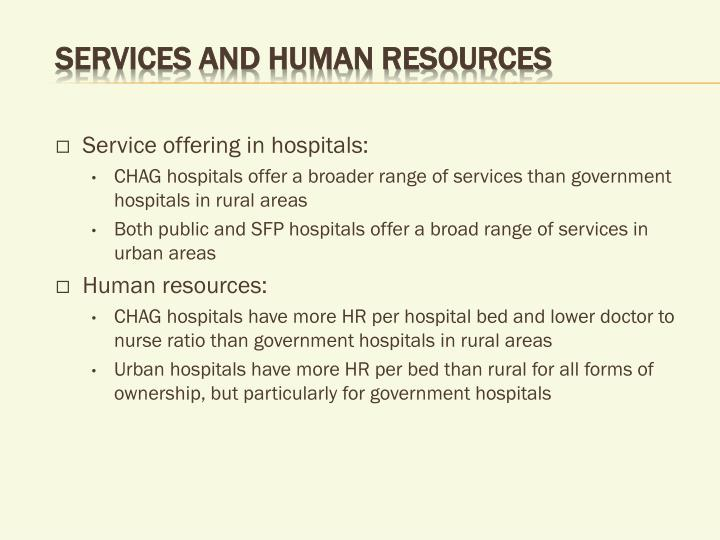 Services and human resources