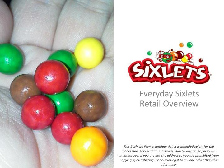 Confectionery Business Plan