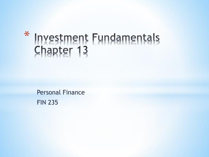 Investment fundamentals chapter 13