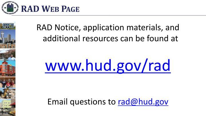RAD Web Page