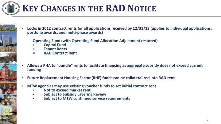 Key Changes in the RAD Notice