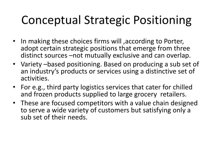 Conceptual Strategic Positioning