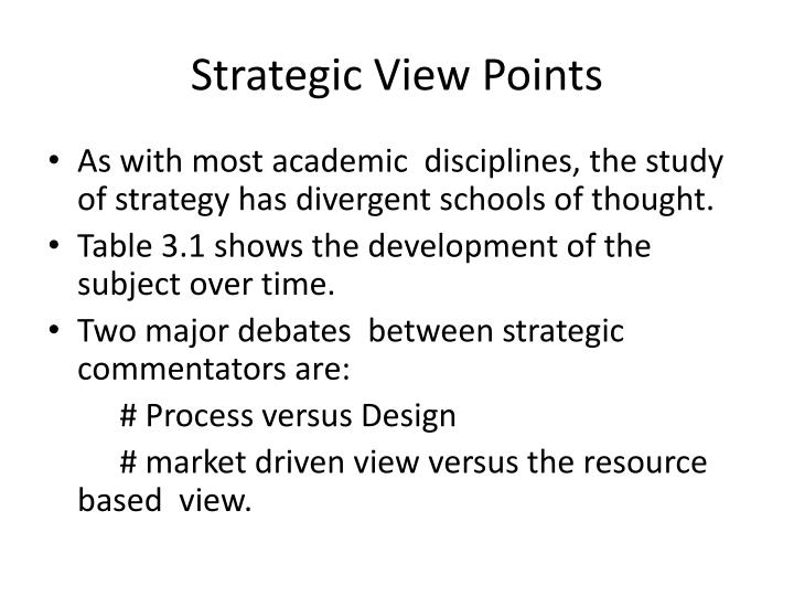 Strategic View Points