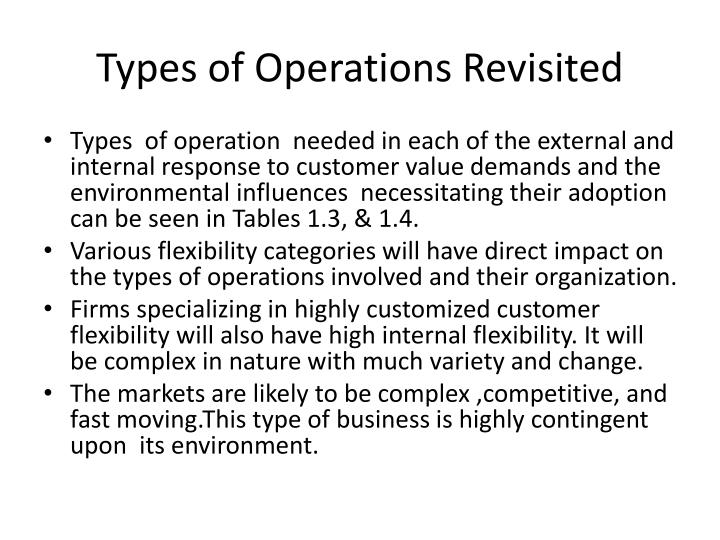 Types of Operations Revisited