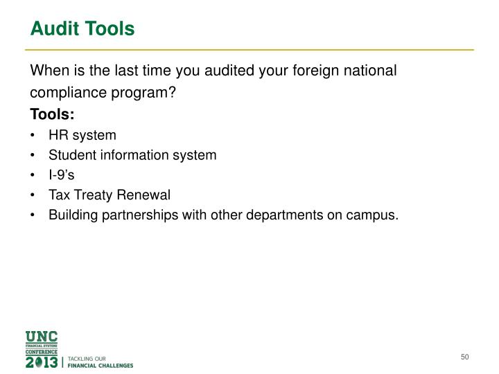 Audit Tools