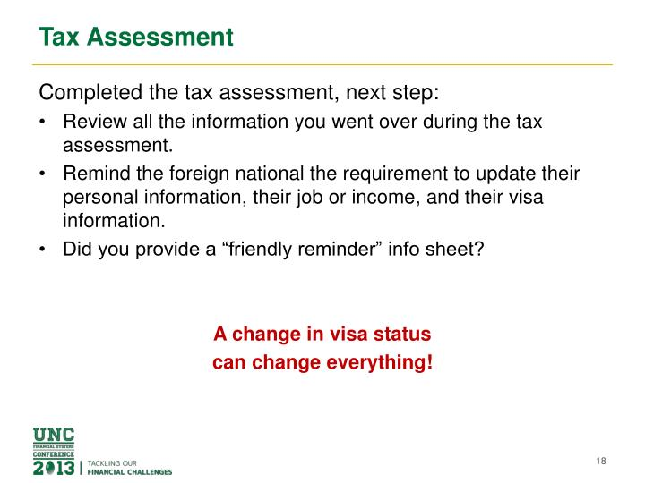 Tax Assessment