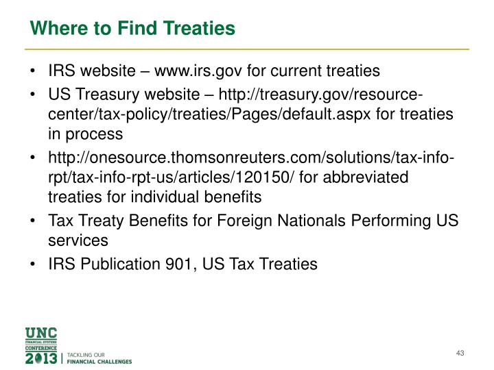 Where to Find Treaties