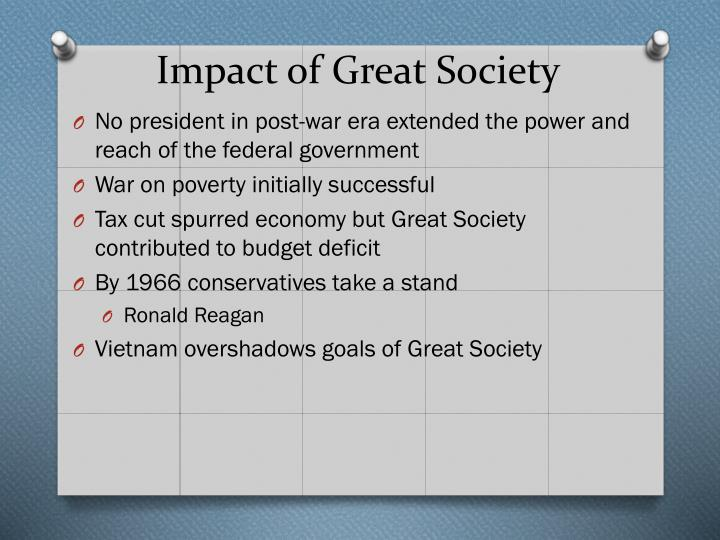 Impact of Great Society