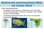 biodiversity and ecosystems sbas are closely linked
