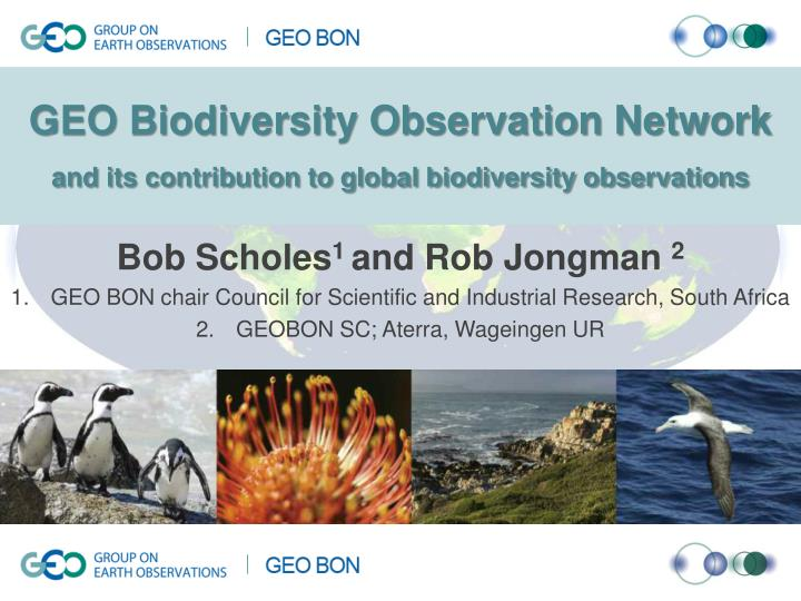 Geo biodiversity observation network and its contribution to global biodiversity observations