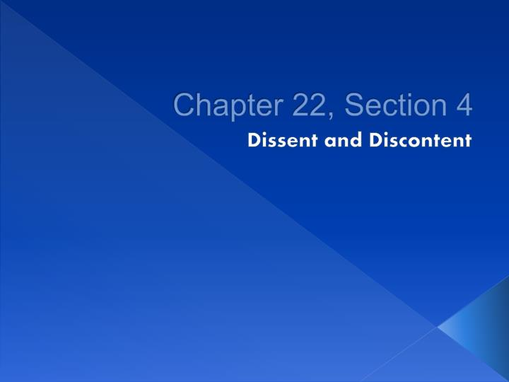 Chapter 22, Section 4