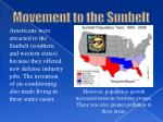 movement to the sunbelt