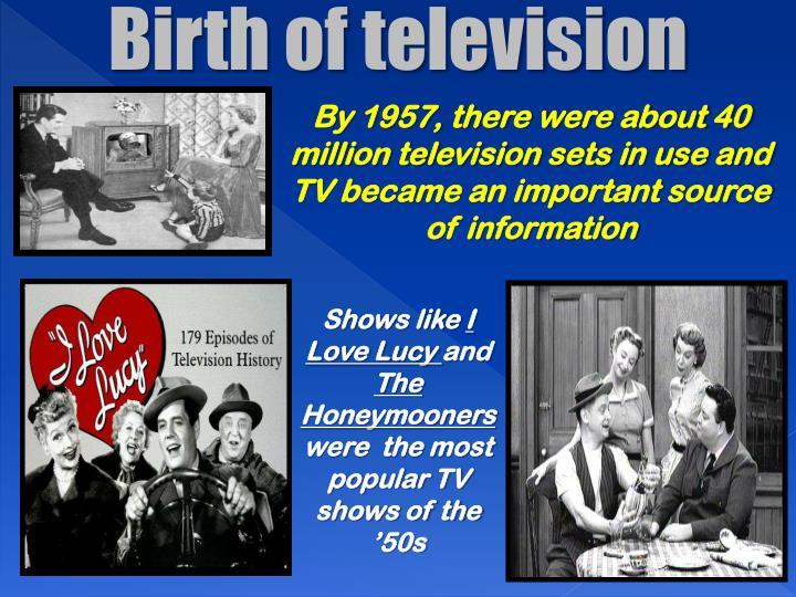 Birth of television