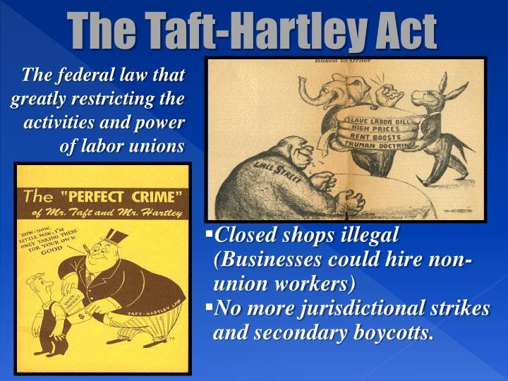The Taft-Hartley Act