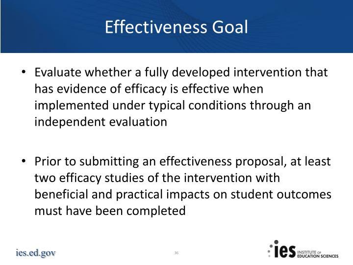 Effectiveness Goal