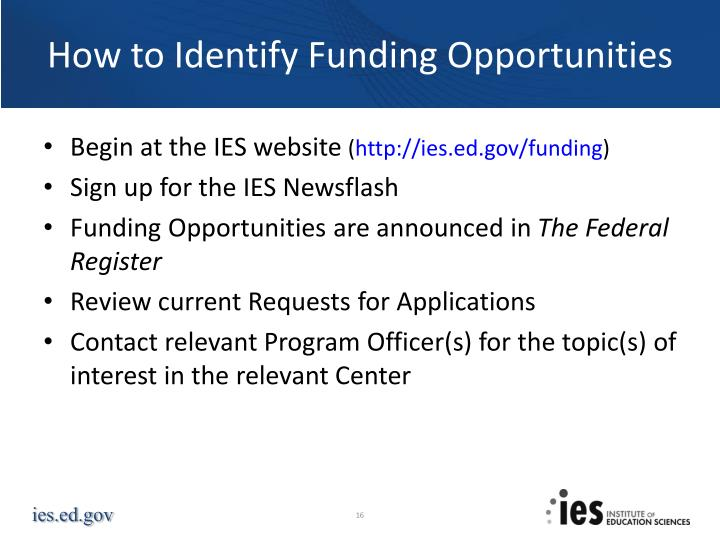 How to Identify Funding Opportunities